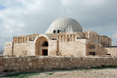 La mezquita de Umayyad en la ciudadela - Amman foto de archivo