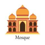 La mezquita islámica/Masjid para los musulmanes ruega el icono Fotos de archivo