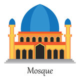 La mezquita islámica/Masjid para los musulmanes ruega el icono Fotografía de archivo