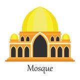 La mezquita islámica/Masjid para los musulmanes ruega el icono Imagen de archivo libre de regalías