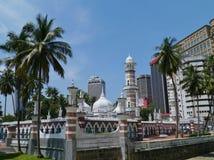 La mezquita malasia de Jamek en Kuala Lumpur Fotografía de archivo libre de regalías