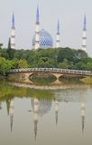 La mezquita principal en Shah Alam Fotos de archivo libres de regalías