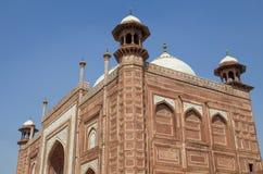 La mezquita Taj Mahal en Agra la India Imagen de archivo