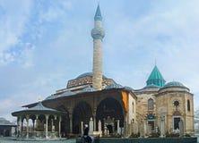 La mezquita y el mausoleo en el museo de Mevlana Foto de archivo