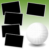 La mia avventura della foto di golf Fotografia Stock