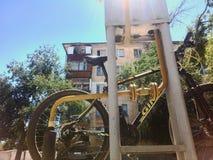 La mia bicicletta Fotografie Stock Libere da Diritti