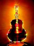 La mia chitarra di illuminazione Immagine Stock