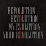 La mia evoluzione, la vostra rivoluzione fotografia stock libera da diritti