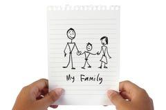La mia famiglia Fotografia Stock Libera da Diritti