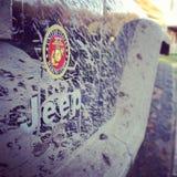 La mia jeep fangosa Immagini Stock