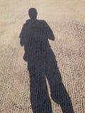 La mia ombra in cielo luminoso, Hadyai, Songkhla, Tailandia Immagine Stock Libera da Diritti