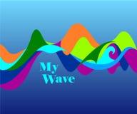 La mia onda, illustrazione di vettore Fotografia Stock