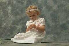 La mia piccola figlia Fotografia Stock