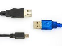 La mia porta USB usata Immagini Stock