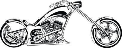 La mia progettazione in bianco e nero della motocicletta royalty illustrazione gratis