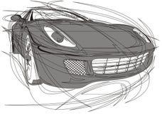 La mia progettazione originale dell'automobile Immagini Stock