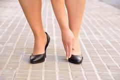 la mia scarpa mi spazzola Immagini Stock