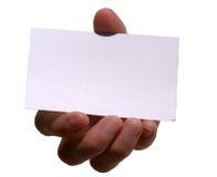 La mia scheda (spazio in bianco per il vostro testo) Fotografia Stock