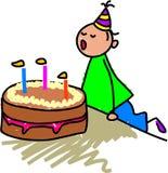 La mia torta di compleanno Fotografia Stock