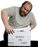 La miel enumera Fotografía de archivo