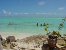 La migliore laguna nel mondo: Bora Bora Fotografie Stock Libere da Diritti