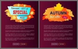 La migliore offerta speciale sconta Autumn Big Sale 2017 Fotografia Stock