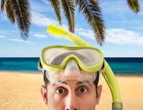 La migliore spiaggia per immergersi fotografia stock libera da diritti