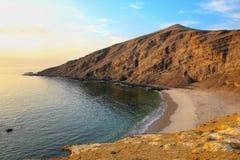 La Mina Beach i Paracas den nationella reserven, Peru arkivfoton