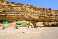 La Mina Beach i Paracas den nationella reserven, Peru arkivbild