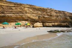 La Mina Beach i Paracas den nationella reserven, Peru royaltyfria bilder