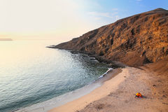 La Mina Beach in Paracas National Reserve, Peru. Royalty Free Stock Photo