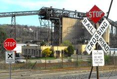 La mina de carbón permanece Fotografía de archivo