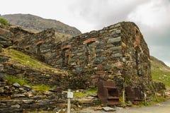 La mina de cobre de Brittania permanece en el soporte Snowdon Imagen de archivo libre de regalías