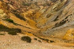 La mina de cobre de la montaña de Parys permanece Fotos de archivo libres de regalías