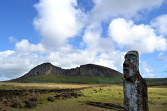 La mina de Moai - isla de pascua Fotos de archivo libres de regalías