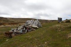 La mina de oro en la isla de Tierra del Fuego Fotos de archivo