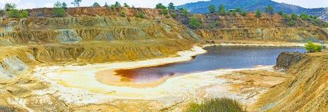 La mina del cobre fotos de archivo