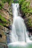 La mina falls, puerto rico. La mina falls cascades into a cool pool, in the el yunque national forest, puerto rico Stock Photography