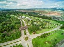 La mina marca con hoyos la visión aérea Fotografía de archivo libre de regalías