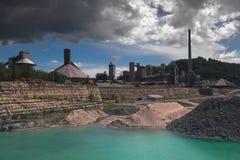 La mina vieja de la marga dio vuelta en un parque público en Maastricht foto de archivo libre de regalías