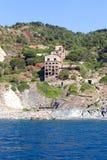 La mina vieja en el mar Foto de archivo libre de regalías