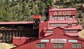 La mina y el molino de oro de Argo en Colorado Foto de archivo libre de regalías