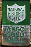 La mina y el molino de oro de Argo en Colorado Imagenes de archivo