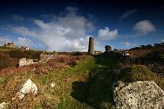 La mine reste vallée de Porthmeor occidentale Photos stock