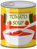 La minestra del pomodoro dentro può royalty illustrazione gratis