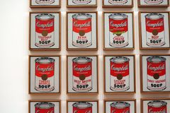 La minestra del ` s di Campbell inscatola Andy Warhol al museo di arte moderna fotografie stock