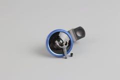 la mini macchina fotografica di pulizia del lavoratore della gente len Fotografia Stock Libera da Diritti