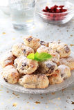 La mini Navidad stollen las tortas Fotografía de archivo libre de regalías
