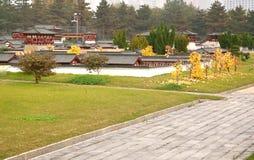 La mini vecchia città in Daming Palace era il complesso imperiale del palazzo di Tang Dynasty, Xian China immagine stock