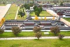 La mini vecchia città in Daming Palace era il complesso imperiale del palazzo di Tang Dynasty, Xian China immagini stock
